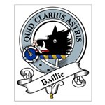 Baillie Clan Badge Small Poster