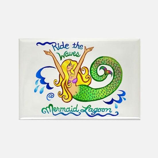 Mermaid Lagoon Rectangle Magnet