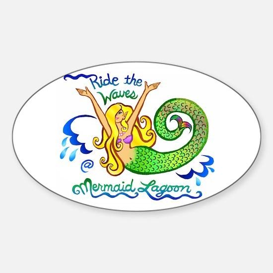 Mermaid Lagoon Sticker (Oval)