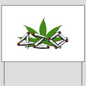 420 Marijuana Leaf Yard Sign
