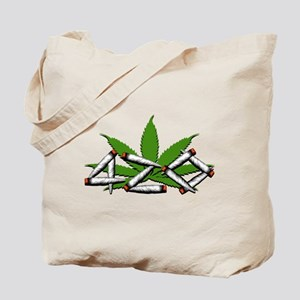 420 Marijuana Leaf Tote Bag