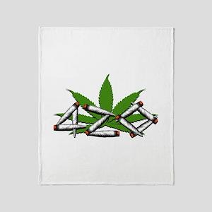 420 Marijuana Leaf Throw Blanket