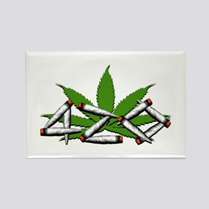 420 Marijuana Leaf Rectangle Magnet