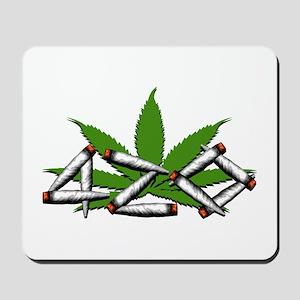 420 Marijuana Leaf Mousepad