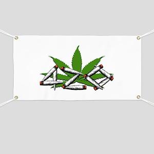 420 Marijuana Leaf Banner