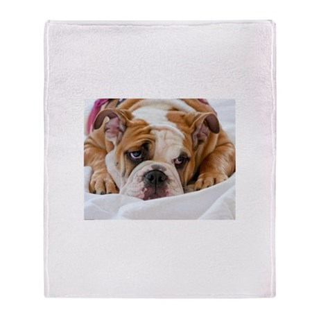 english bulldog blanket english bulldog puppy throw blanket by rozeyphotography20 5256