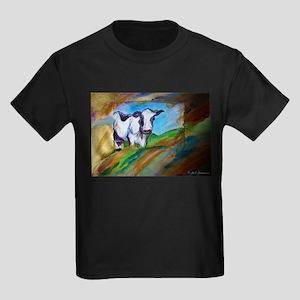 Colorful, Dairy, Cow, Kids Dark T-Shirt