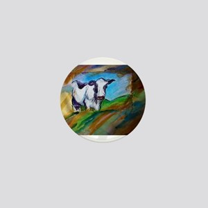 Colorful, Dairy, Cow, Mini Button