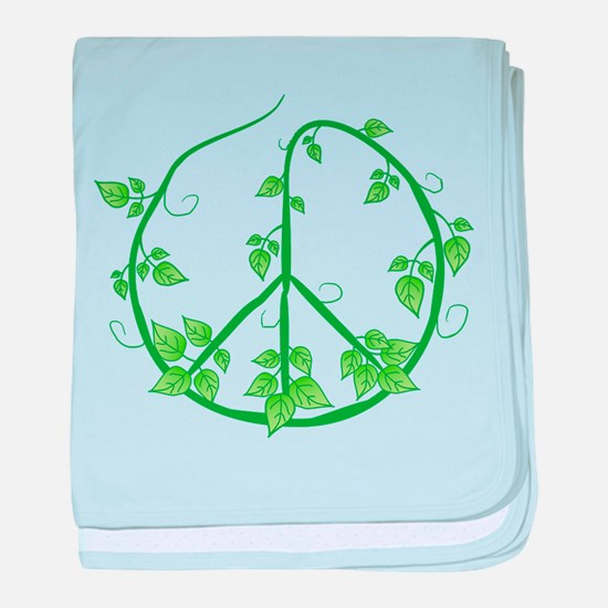 Green Peace baby blanket