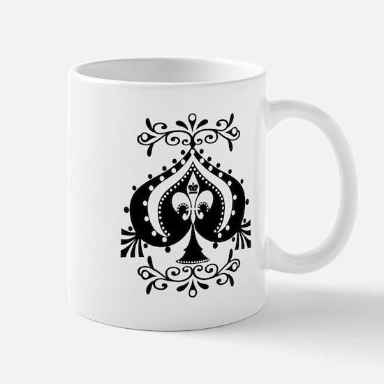 Ornate Spade Design Mug