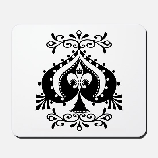 Ornate Spade Design Mousepad