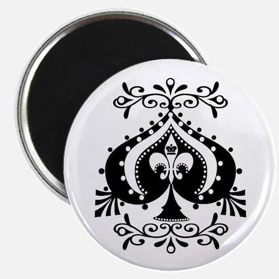Ornate Spade Design Magnet