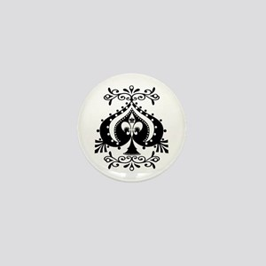 Ornate Spade Design Mini Button