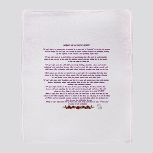 PoliceWife Poem Throw Blanket