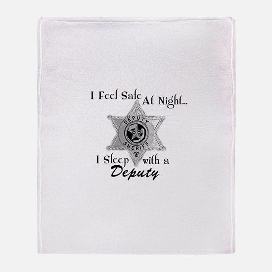 Feel Safe Deputy Throw Blanket