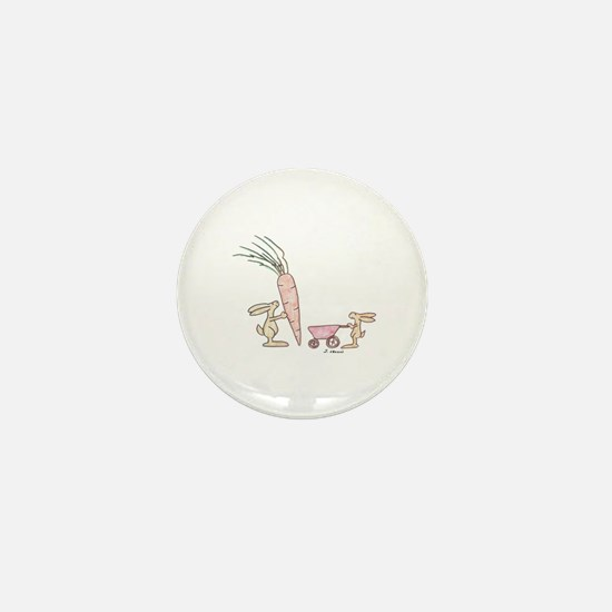 Cute Bunny rabbit Mini Button
