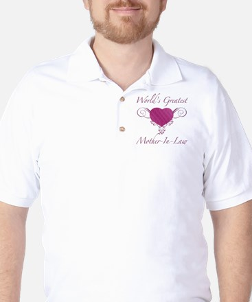 World's Greatest Mother-In-Law (Heart) Golf Shirt