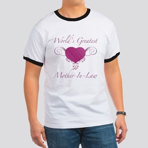 World's Greatest Mother-In-Law (Heart) Ringer T
