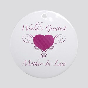 World's Greatest Mother-In-Law (Heart) Ornament (R