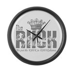 RHOK transparent Large Wall Clock