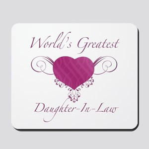 World's Greatest Daughter-In-Law (Heart) Mousepad