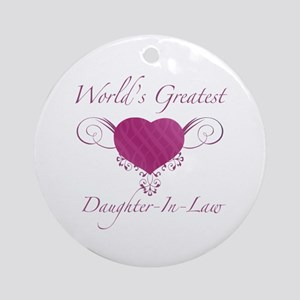 World's Greatest Daughter-In-Law (Heart) Ornament