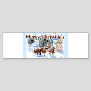 Riding Home for Christmas Sticker (Bumper)