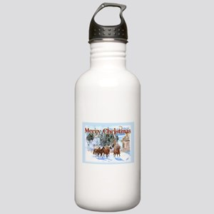 Riding Home for Christmas Stainless Water Bottle 1