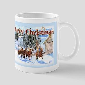 Riding Home for Christmas Mug