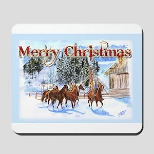 Riding Home for Christmas Mousepad