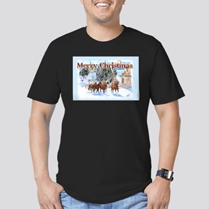 Riding Home for Christmas Men's Fitted T-Shirt (da