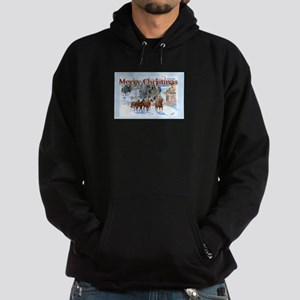 Riding Home for Christmas Hoodie (dark)