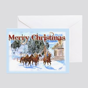 Riding Home for Christmas Greeting Cards (Pk of 10