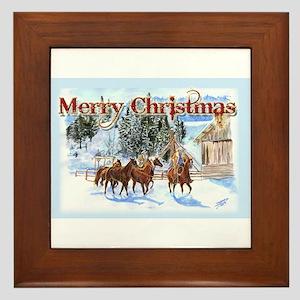 Riding Home for Christmas Framed Tile