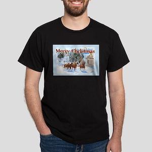 Riding Home for Christmas Dark T-Shirt
