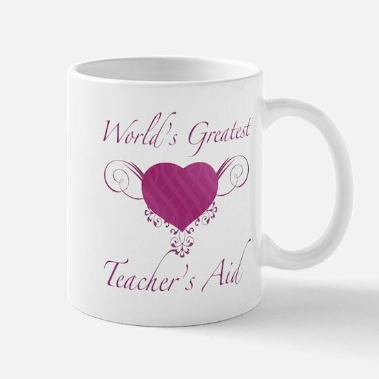 World's Greatest Teacher's Aid (Heart) Mug