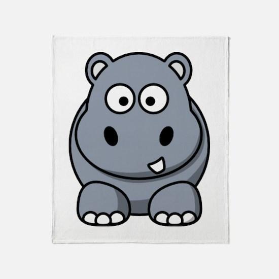 Cute Hippos Throw Blanket
