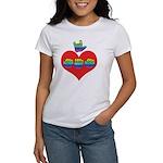 I Love Mom with Big Heart Women's T-Shirt