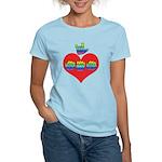 I Love Mom with Big Heart Women's Light T-Shirt