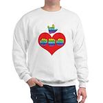 I Love Mom with Big Heart Sweatshirt