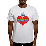 I Love Mom with Big Heart Light T-Shirt