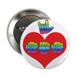 """I Love Mom with Big Heart 2.25"""" Button (100 p"""