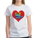 I Love Mom Inside Big Heart Women's T-Shirt