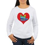 I Love Mom Inside Big Heart Women's Long Sleeve T-