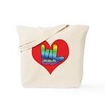 I Love Mom Inside Big Heart Tote Bag