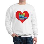 I Love Mom Inside Big Heart Sweatshirt