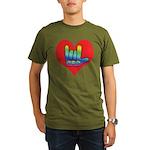 I Love Mom Inside Big Heart Organic Men's T-Shirt