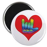 I Love Mom Inside Big Heart Magnet