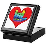 I Love Mom Inside Big Heart Keepsake Box