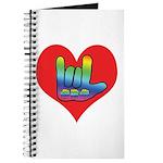 I Love Mom Inside Big Heart Journal